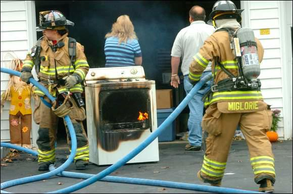 dryer fire firefighters